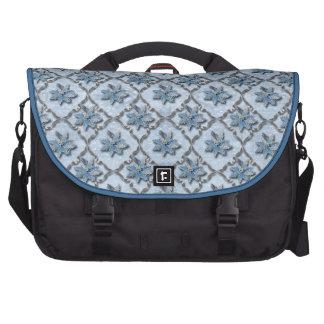 Blue Poinsettias Silver Laptop Bag
