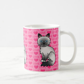 Blue Point Birman / Ragdoll Cat Love Coffee Mug