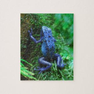 Blue Poison Arrow Frog Jigsaw Puzzle