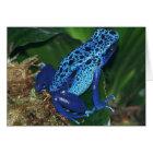 Blue Poison Arrow Frog Portrait Card