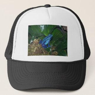 Blue Poison Arrow Frog Portrait Trucker Hat