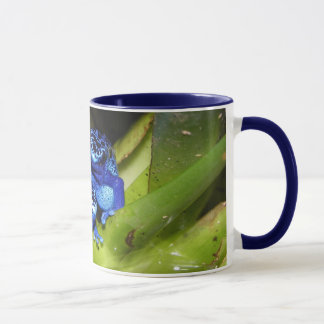 Blue Poison Dart Frogs In Leaf 1 Mug