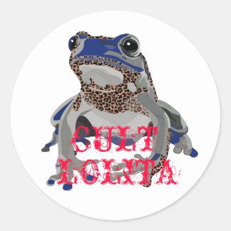 Blue poison frog, LOLITA, CULT sticker