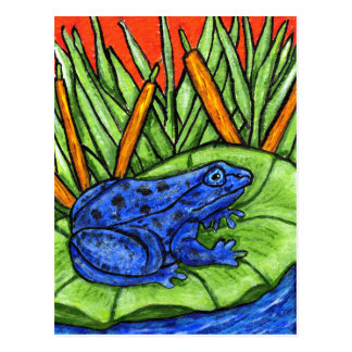 Blue Poison Frog Postcard