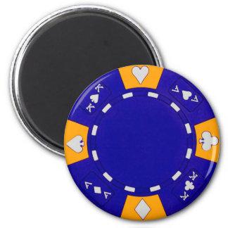Blue Poker Chip 6 Cm Round Magnet