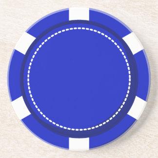 Blue Poker Chip Sandstone Coaster