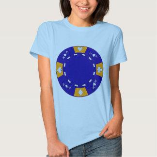 Blue Poker Chip Shirts