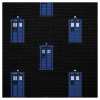 Blue Police Box Fabric British Science Fiction