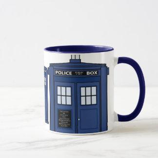 Blue POLICE Box Geek Mug Tea Time