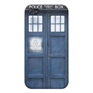 Blue Police Box iPhone 4/4S Cover