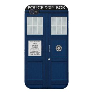Blue Police Box iPhone 4 Case
