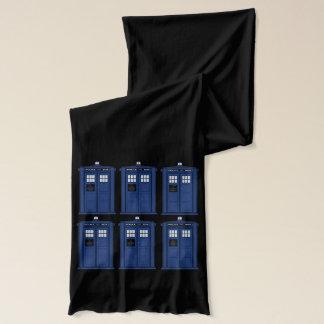 Blue Police Box long geek Scarf