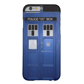 Blue Police Call Box (photo) Barely There iPhone 6 Case