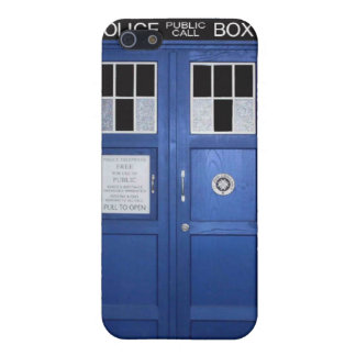 Blue Police Call Box (photo) iPhone 5/5S Cover