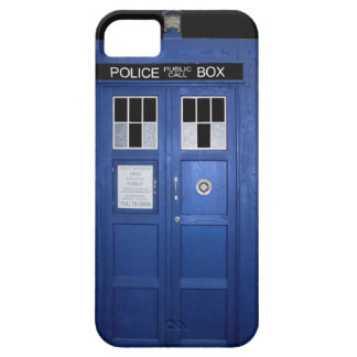 Blue Police Call Box (photo) iPhone 5 Cover