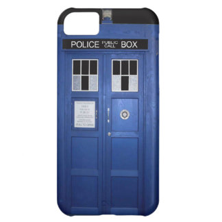 Blue Police Call Box (photo) iPhone 5C Case