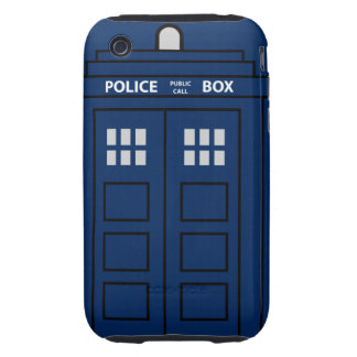 Blue Police Call Box Tough iPhone 3 Cases