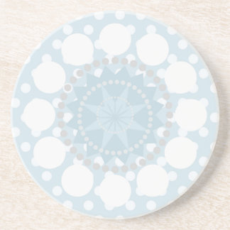 Blue Polka Dot/Circles Sandstone Coaster