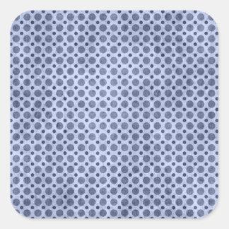 Blue Polka Dot Grunge Sticker