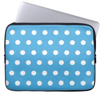 Blue Polka Dot Laptop Computer Sleeves