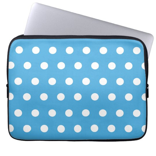 Blue Polka Dot Laptop Sleeve