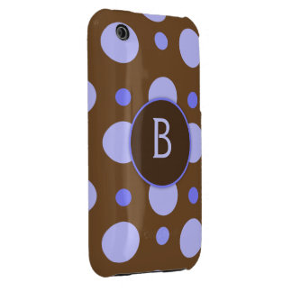 Blue Polka Dot Monogram Galaxy S Case Case-Mate iPhone 3 Cases