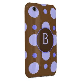 Blue Polka Dot Monogram Galaxy S Case Case-Mate iPhone 3 Cases