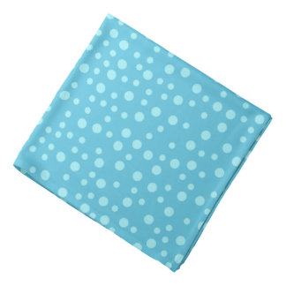 Blue Polka Dot Pattern Bandana