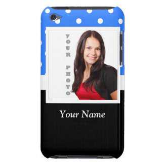 Blue polka dot photo template iPod Case-Mate cases
