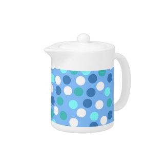 Blue Polka Dot Small Teapot
