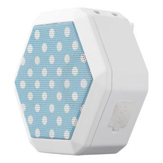 blue ,polka dot,white,cute,girly,trendy,fun,modern white boombot rex bluetooth speaker