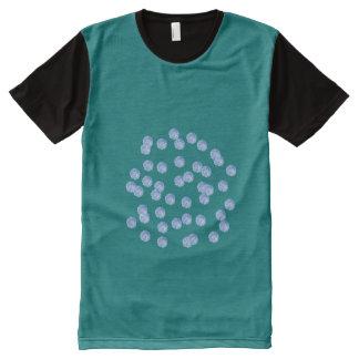 Blue Polka Dots All-Over Print T-Shirt
