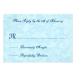 Blue Polka Dots and Lace Custom Wedding Product Personalized Announcements