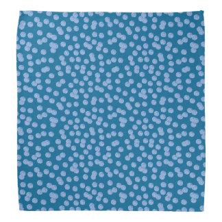 Blue Polka Dots Bandana