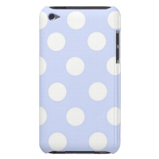 blue polka dots Barely there ipod touch case