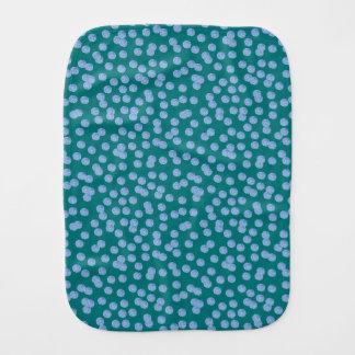 Blue Polka Dots Burp Cloth