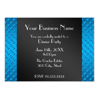 "Blue polka dots Business invitation 5"" X 7"" Invitation Card"