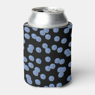 Blue Polka Dots Can Cooler