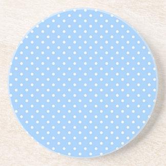 Blue Polka Dots Drink Coasters