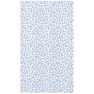 Blue Polka Dots Cotton Tablecloth 60'' x 104''