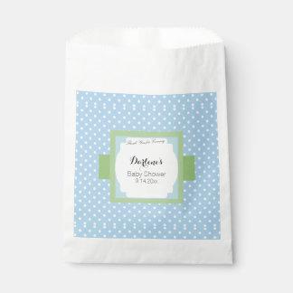 Blue Polka Dots Favour Bags