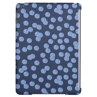 Blue Polka Dots Glossy iPad Air Case