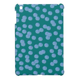Blue Polka Dots Glossy iPad Mini Case