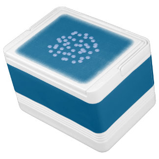 Blue Polka Dots Igloo 12 Can Cooler Igloo Cool Box
