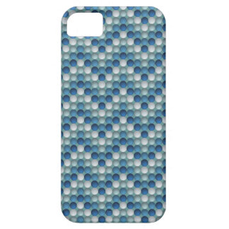 Blue Polka Dots In Zig Zag Pattern iPhone 5 Cover