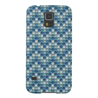Blue Polka Dots In Zig Zag Pattern Cases For Galaxy S5