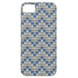 Blue Polka Dots In Zig Zag Pattern iPhone 5 Covers