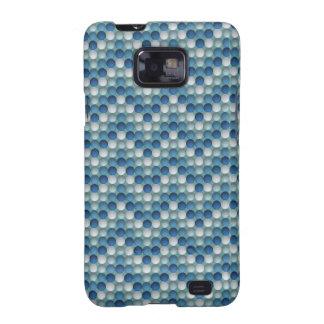 Blue Polka Dots In Zig Zag Pattern Galaxy S2 Cases