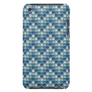 Blue Polka Dots In Zig Zag Pattern iPod Case-Mate Cases