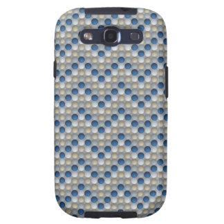 Blue Polka Dots In Zig Zag Pattern Samsung Galaxy S3 Case